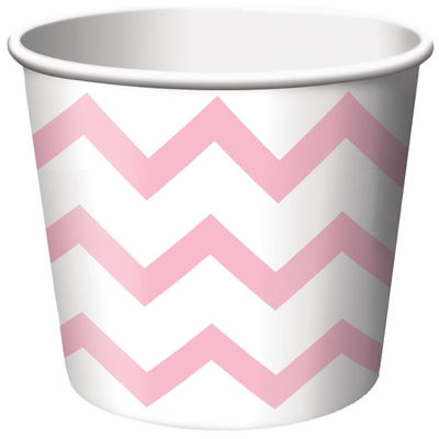 Chevron Stripe Treat Cups - Classic Pink (6)