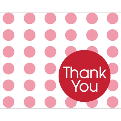Red Dots Thank You Notes (8)