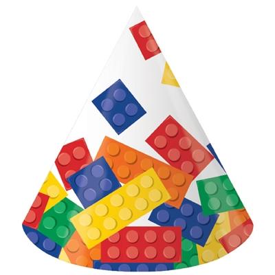 Building Block Party Cone Hats (8)