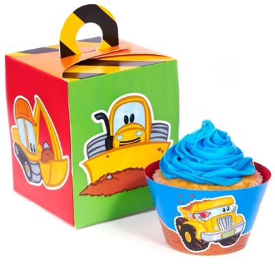 Construction Pals Cupcake Wrapper & Box Kit