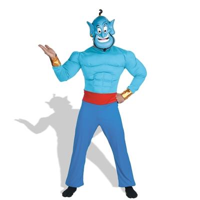 Aladdin Disney Genie Muscle  Adult Costume