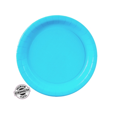 Turquoise Paper Dessert Plates (24)