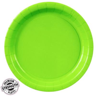 Lime Green Dinner Plates (24)