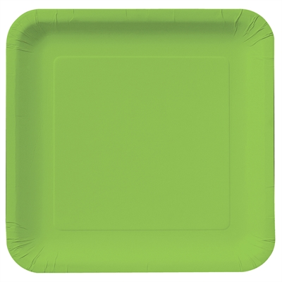 Lime Green Square Dinner Plates (18)