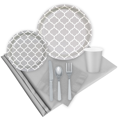 Quatrefoil Gray Event Pack for 8