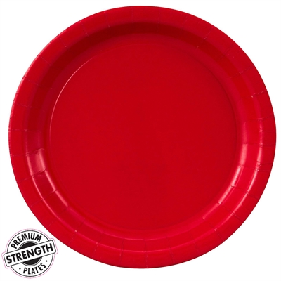 Red Paper Dinner Plates (24)