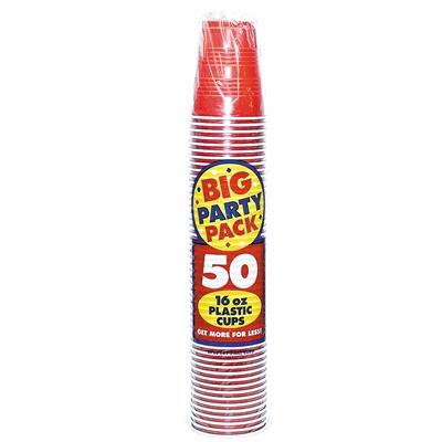 Apple Red Plastic Cups (50)