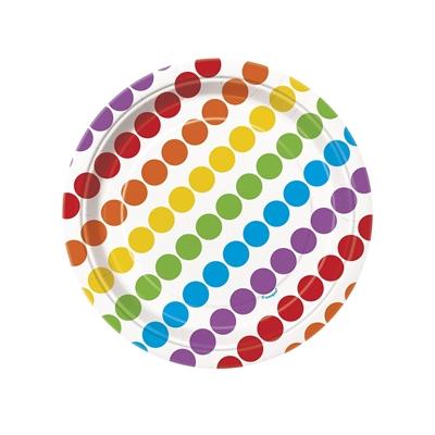 Rainbow Party Dessert Plates (8)