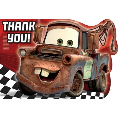 Disney Cars Dream Party Thank You Notes (8)