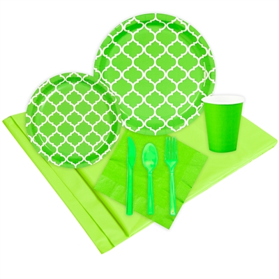 Quatrefoil Lime Green Event Pack