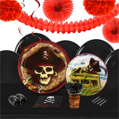 Pirates 16 Guest Tableware & Deco Kit