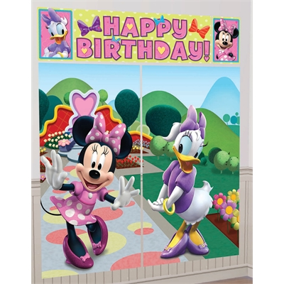 Disney Minnie Mouse Scene Setter Decoration Set