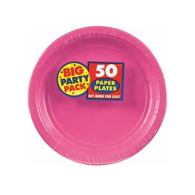 Bright Pink Dessert Plates (50)