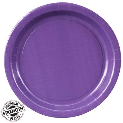 Purple Paper Dinner Plates (24)