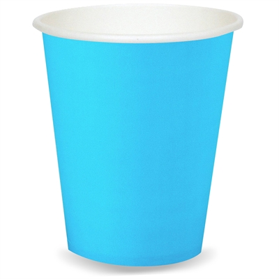 Turquoise 9 oz. Paper Cups (24)