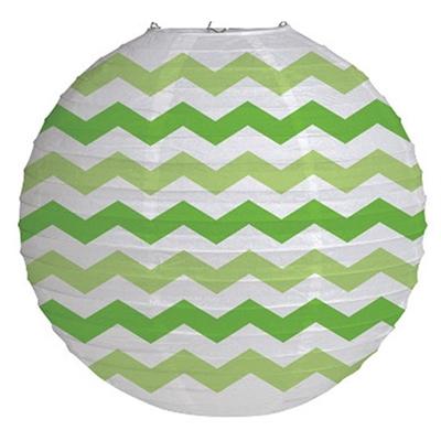 Lime Green Chevron Paper Lantern
