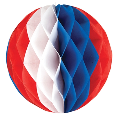 Red, White and Blue 12'' Honeycomb Ball