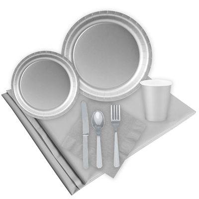 Silver Party Pack for 24