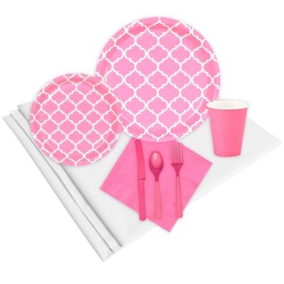 Quatrefoil Candy Pink Event Pack