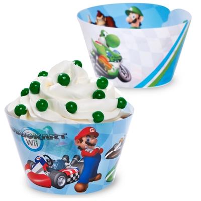 Mario Kart Wii Reversible Cupcake Wrappers