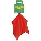 Red Football Challenge Flag