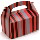 Red and Black Striped Empty Favor Boxes (4)