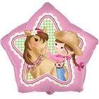 Pink Cowgirl 18'' Foil Balloon