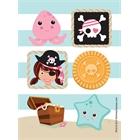 Pretty Pirates Party Sticker Sheets (4)