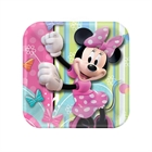 Disney Minnie Mouse Party Square Dessert Plates (8)
