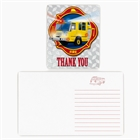 Fire Trucks Thank-You Notes (8)