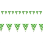Green and White Dots Flag Banner
