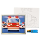 Fire Trucks Activity Placemat Kit for 4