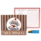 Sock Monkey Red Activity Placemat Kit for 4