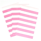 Candy Pink Striped Paper Treat Bags (15)