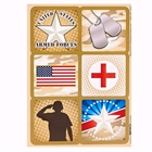 Camo Army Soldier Sticker Sheets