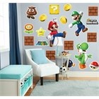 Super Mario Bros. Mario, Luigi and Yoshi Giant Wall Decals