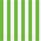 Lime Green Stripe Lunch Napkins (16)