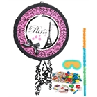 Paris Damask Drum Pinata Kit