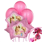 Pink Cowgirl 1st Birthday Balloon Bouquet