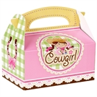 Pink Cowgirl Empty Favor Boxes (4)