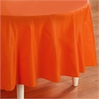 Orange Round Plastic Tablecover