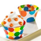 Primary Dots Reversible Cupcake Wrappers (12)