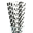Black and White Dots Straws (10)