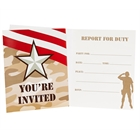 Camo Army Soldier Invitations (8)