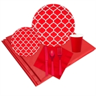 Quatrefoil Red Event Pack for 8