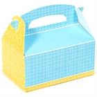 Blue and Yellow Empty Favor Boxes (4)