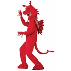 Red Dragon Mascot Costume