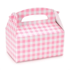 Pink Gingham Empty Favor Boxes (4)