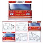 Fire Truck Coloring Posters