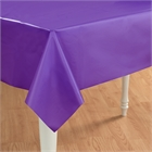 Purple Plastic Tablecover
